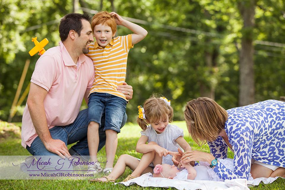playful family portraits