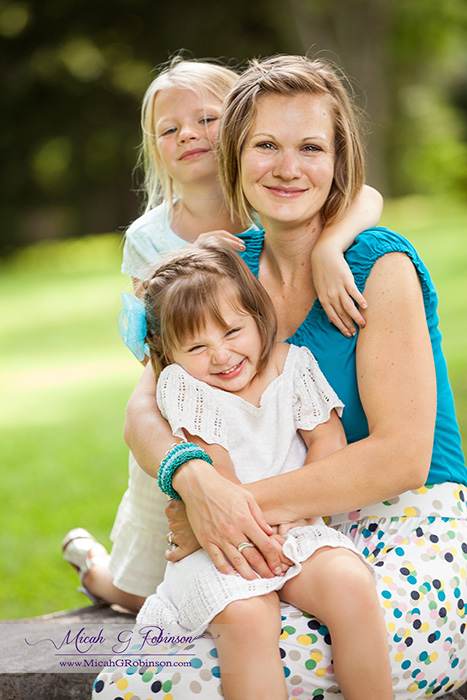 Mom and daughters photo