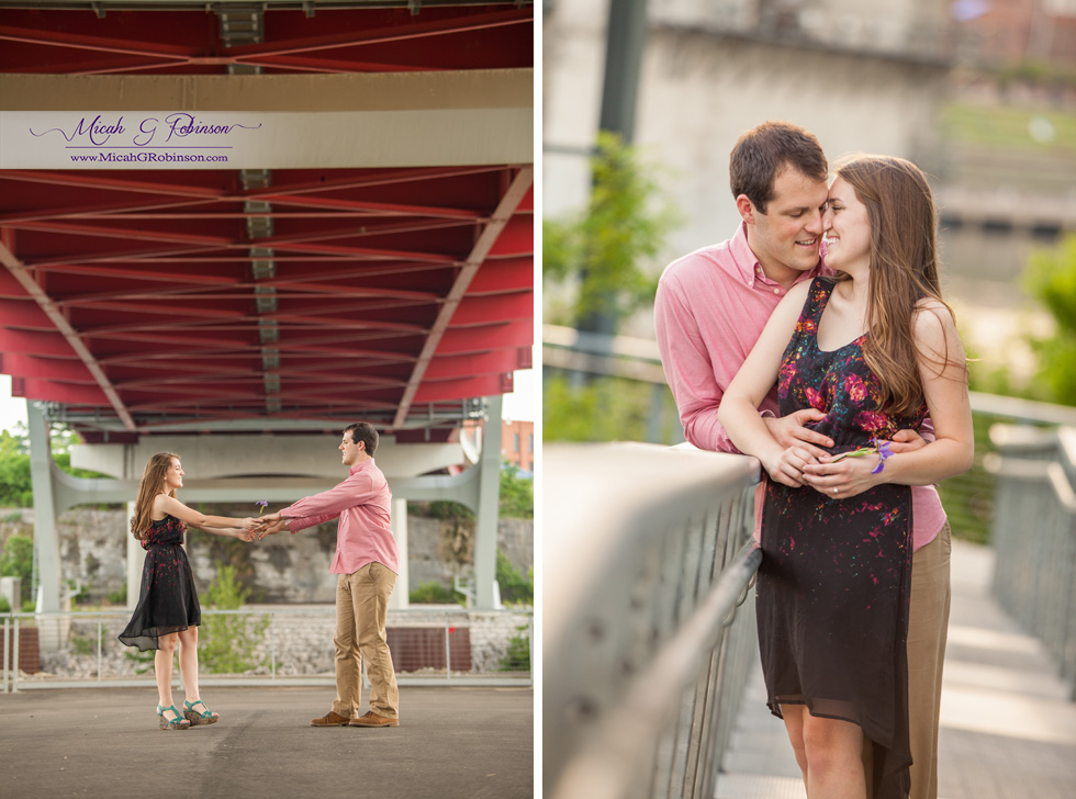 Nashville urban engagement photos