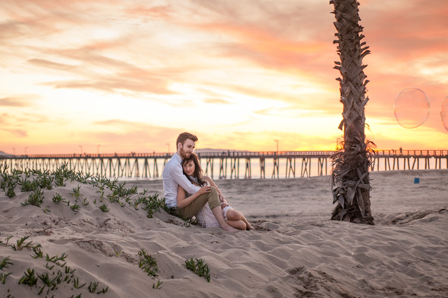 Sandy beach wedding photography