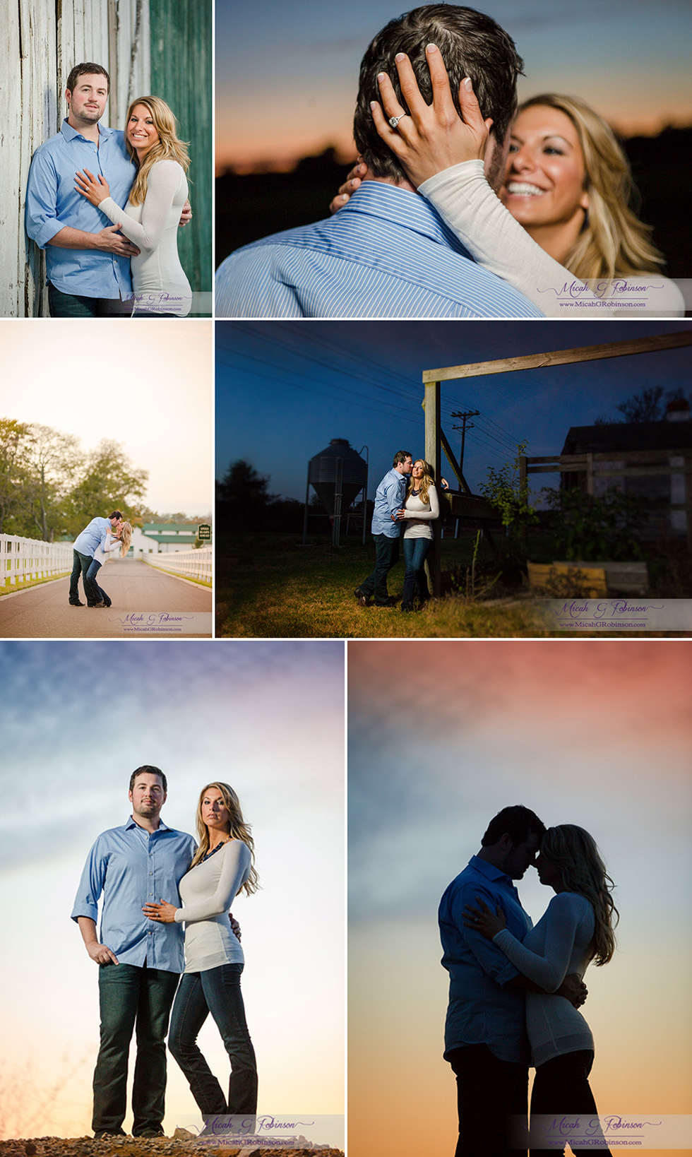 Romantic Franklin TN engagement session