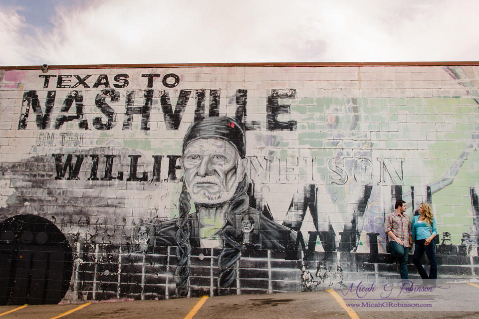 Nashville wall graffiti engagement session