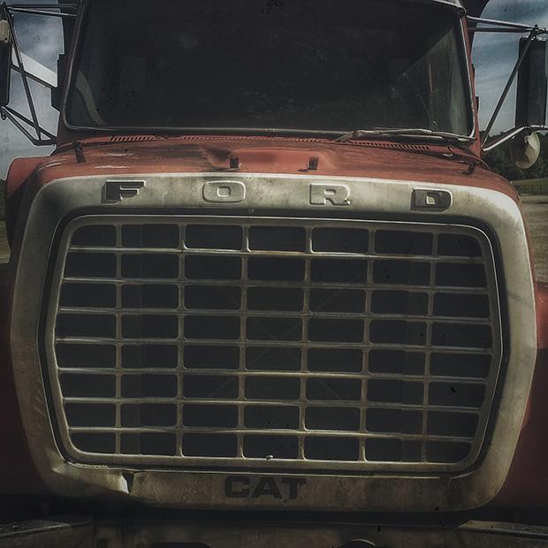 rusted dump truck