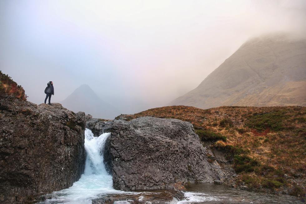 Ferry pools waterfall Scotland