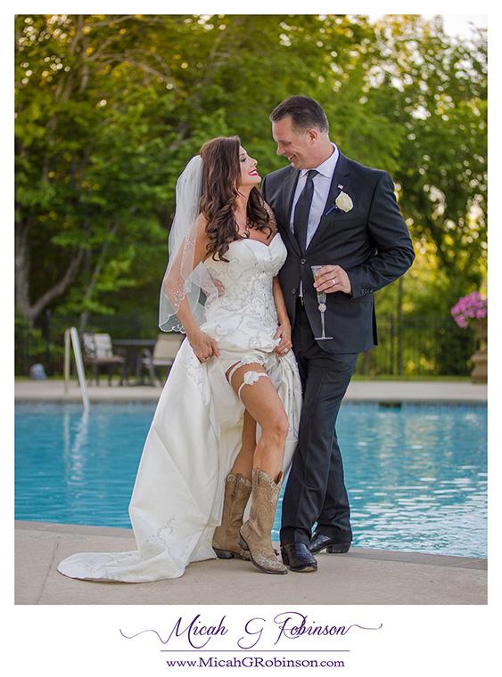 pool bridal portrait sexy