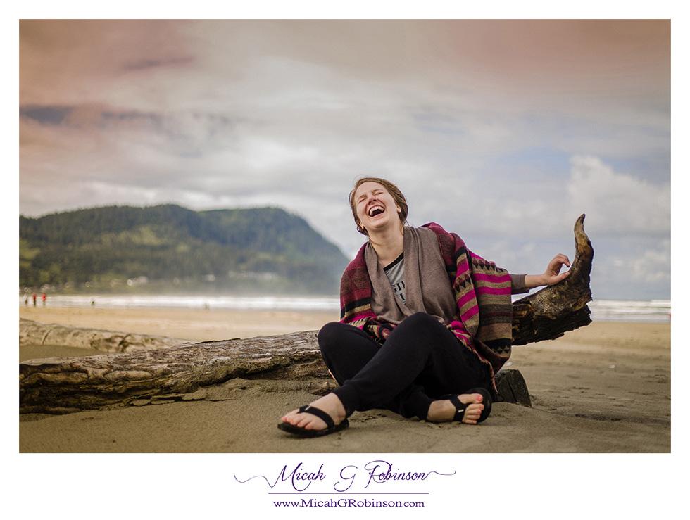 fun woman portrait beach