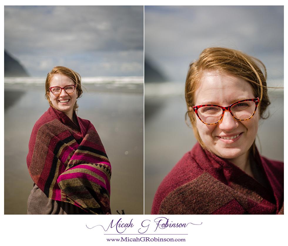 Fun beach portrait