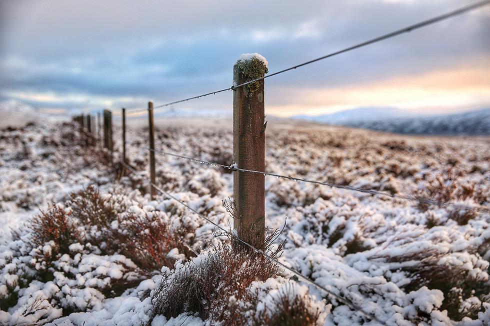 Snowy Scotland sunset