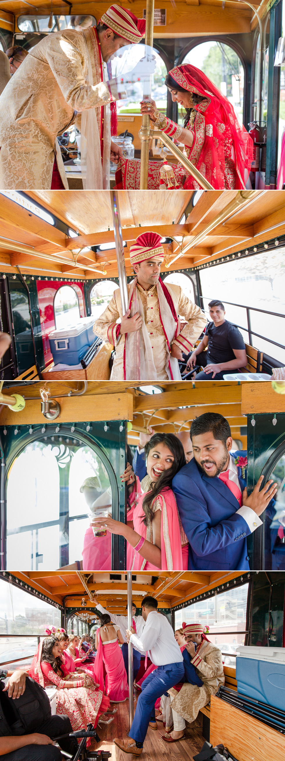 Indian wedding party bus