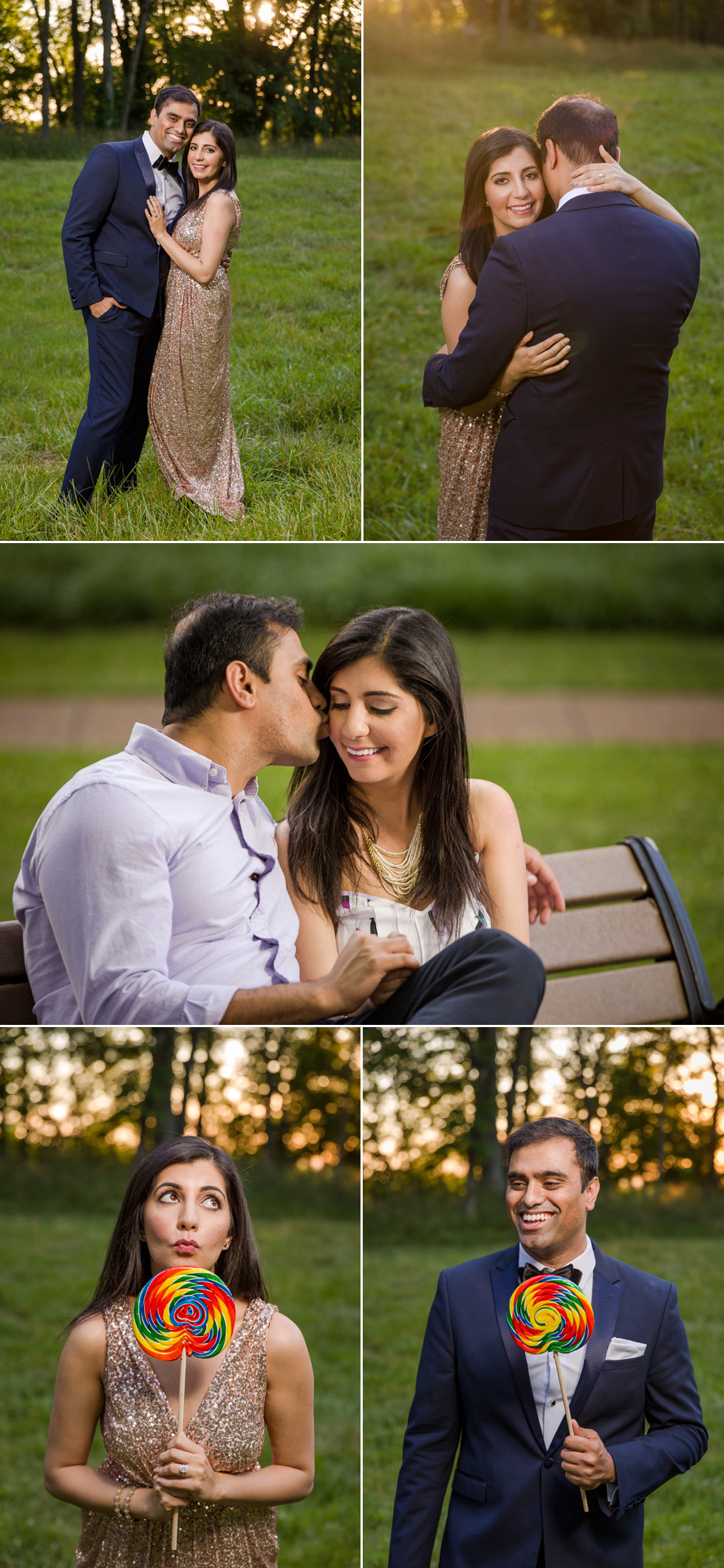 Indian couple embraces engagement